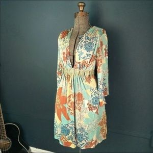 Sky 3/4 sleeves mini dress NWOT